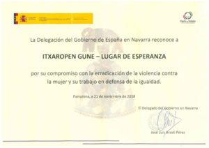 Reconocimiento de la Delegación del Gobierno de España